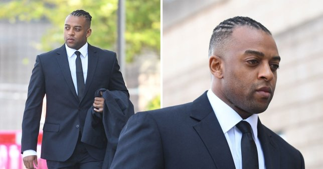 Oritse Williams arrives at Wolverhampton Crown Court where he is on trial for rape