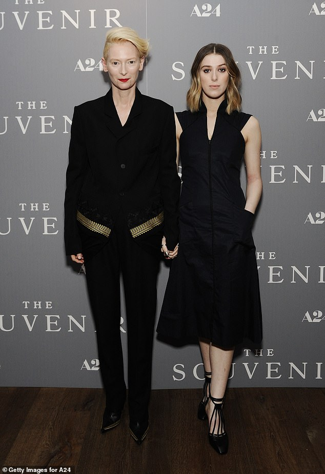Mother and daughter: Tilda Swinton stepped out with daughter Honor at a special screening of The Souvenir in New York City on Wednesday