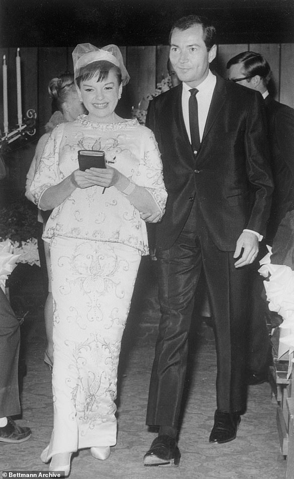 Newlyweds:Judy married actor Mark Herron in a Vegas ceremony in November 1965. The marriage was her fourth and lasted just five months