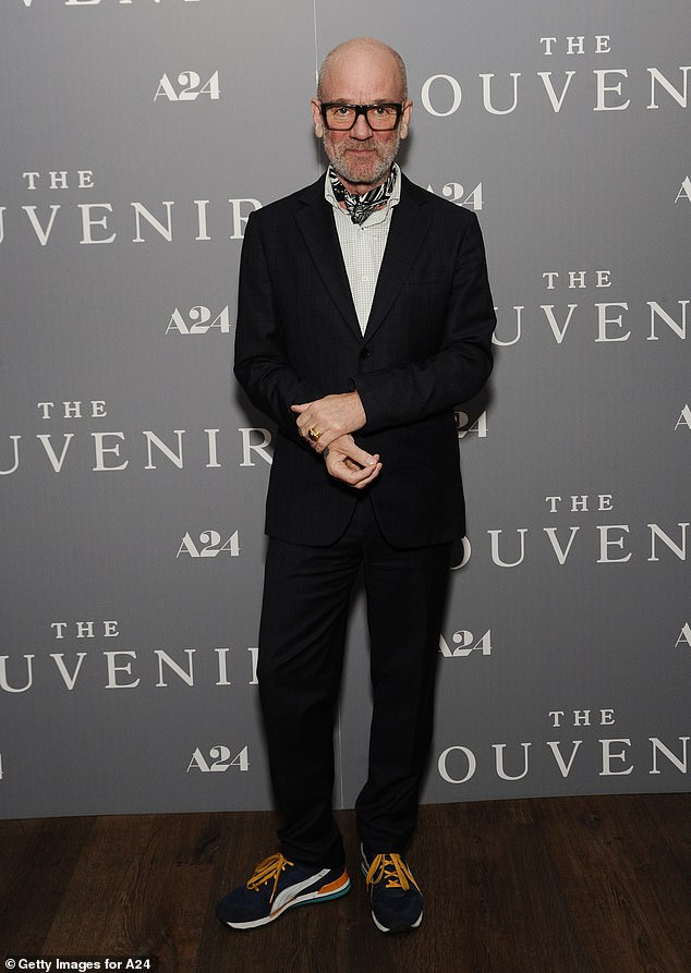 All smiles: Michael Stipe is all smiles at The Souvenir special screening