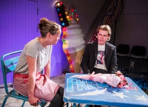 Penny Layden as Agnes and Nicky Priest as Dominic in Jellyfish.