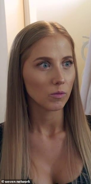 Disappointed:Olga was disappointed to see him struggling and told producers: 'I'm quite upset that Ben thinks he needs to leave the house quite early in the experiment, so I'm hoping that you know he changes his mind'