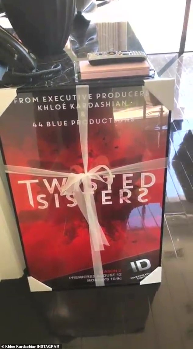 She said: 'I just got my poster for Twisted Sisters and season 2 premieres August 12th. I'm excited but I'm even more excited that I have a poster that says executive producer...me! Koko!'