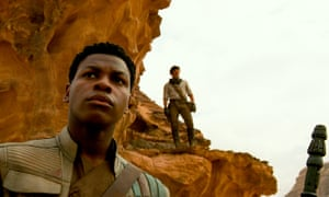 Finn (John Boyega) and Poe (Isaac).