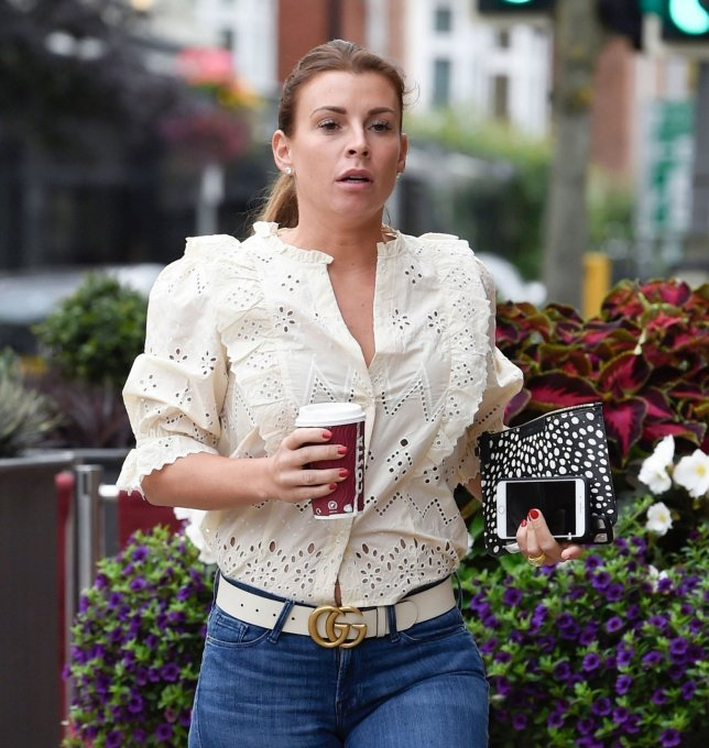 Coleen Rooney getting coffee