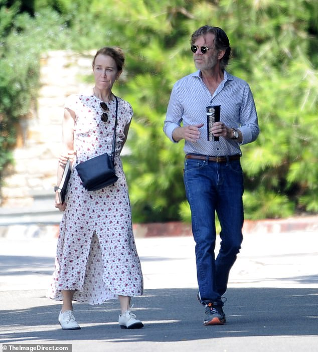 Enjoying their time together:Felicity Huffman was spotted out with her husband William H. Macy just weeks before she is set to be sentenced by a judge in the college admissions scandal