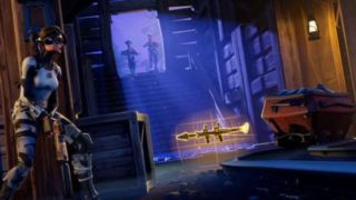Still from Fortnite game