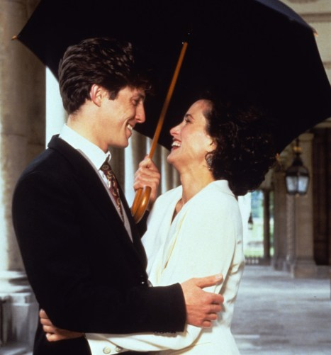 Editorial use only. No book cover usage.Mandatory Credit: Photo by Polygram/Working Title/Kobal/REX/Shutterstock (5884693ag)Hugh Grant, Andie MacdowellFour Weddings and A Funeral - 1994Director: Mike NewellPolygram/Channel 4/Working TitleBRITAINScene StillComedyQuatre mariages et un enterrement