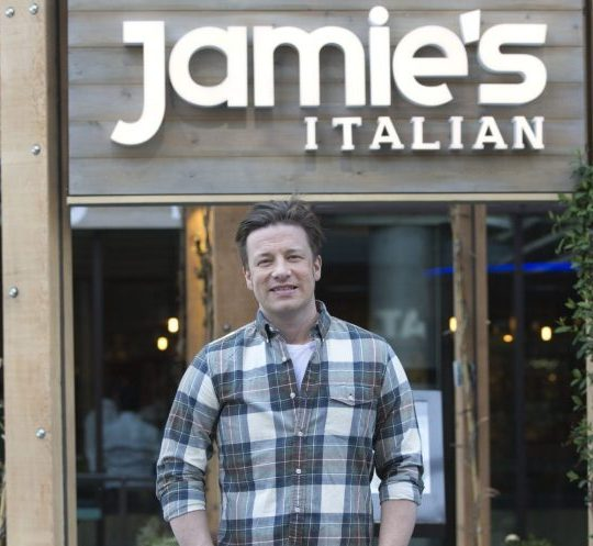 Mandatory Credit: Photo by REX/Shutterstock (4686131a) Jamie Oliver Jamie Oliver launching his latest 'Jamie's Italian' restaurant at the Hilton Tower Bridge, London, Britain - 20 Apr 2015