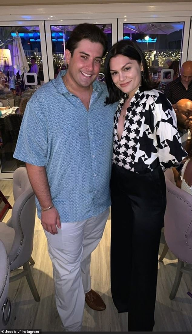 Essex reunion: Jessie J stunned fans on Thursday night as she made a surprise appearance at Elliott Wright's restaurant in Marbella to watch James Argent's live gig