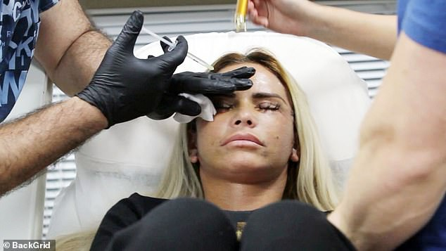Ouch!Katie Price was seen getting a Botox injection just a few weeks after undergoing a face lift in Turkey