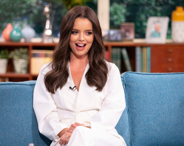 Editorial use only Mandatory Credit: Photo by S Meddle/ITV/REX (10354400cl) Maura Higgins 'This Morning' TV show, London, UK - 05 Aug 2019 EXCLUSIVE: WE?RE ALL IN A FLUTTER! IT?S LOVE ISLAND?S MAURA She was known for her straight talking in the villa and now Irish beauty Maura Higgins has swapped the daybed for our sofa. So what's life like for her post Love Island? Did she enjoy introducing Curtis to her family and also meeting his? We?ll find out more about the couple's double date with Molly-Mae and Tommy, and quiz her about that priceless reaction to Amber and Greg's big win.