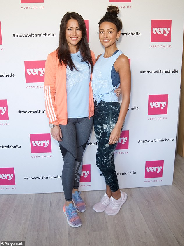 Fitness enthusiast: Michelle Keegan hosted an immersive wellness event alongside field hockey player Sam Quek in collaboration with Adidas for Very.co.uk in London on Thursday