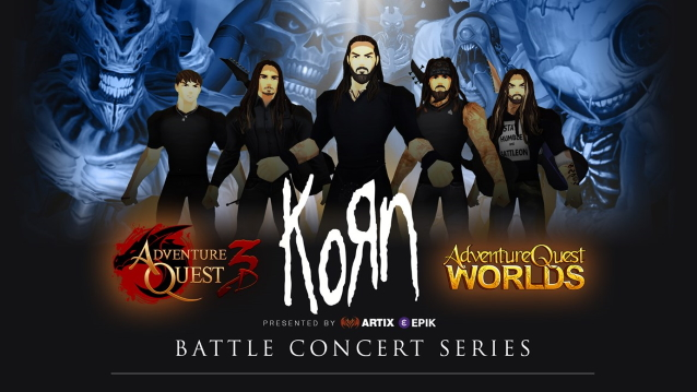 "Virtual Version Of KORN To Play Concert Inside ""AdventureQuest 3D' And 'AQWorlds' Video Games"