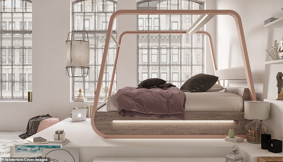 Stylish, but pricey:Although an official price hasn't been announced, a similar version of the bed was priced around £33,000
