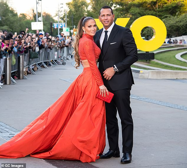 Hot couple: The 44-year-old former New York Yankee now lives with his fiancee Jennifer Lopez; the pair are pictured at the CFDA Fashion Awards in Brooklyn this June