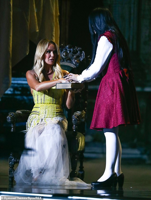 I'm scared!Asia's Got Talent's The Sacred Riana also caused chills with her terrifying illusion act, dragging a petrified Amanda onto the stage