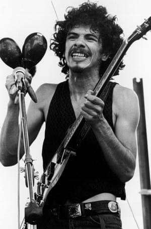 Carlos Santana at Woodstock.