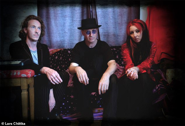The band, Killer Queen Bees, is made up of zoologist Lars Chittka of the Queen Mary University of London (centre) and musicians Katie Green (right) and Rob Alexander (left)
