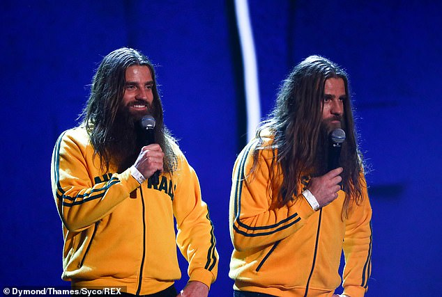 Funnymen: The Nelson Twins also left the judges in hysterics after travelling all the way from Australian with their comical double act