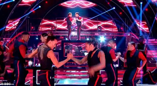 Amazing: It comes after viewers praised show bosses last year, when the professional dancers performed a same-sex routine