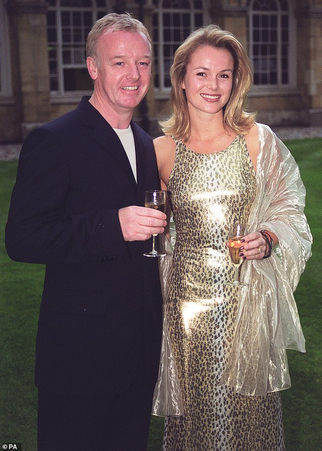 Way back when: Amanda and Dennis split when news of the affair emerged. Although they were briefly reconciled, they separated in 2002 and were divorced the following year (pictured with her ex-husband Les in 2000)