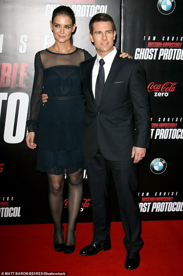 Her ex husband:There were rumors that Katie's divorce agreement prohibited her from publicly dating anyone for five years after the split from ex-husband, Tom Cruise. She began dating Tom in 2005, and seven weeks into the relationship, they were engaged. Seen in 2011