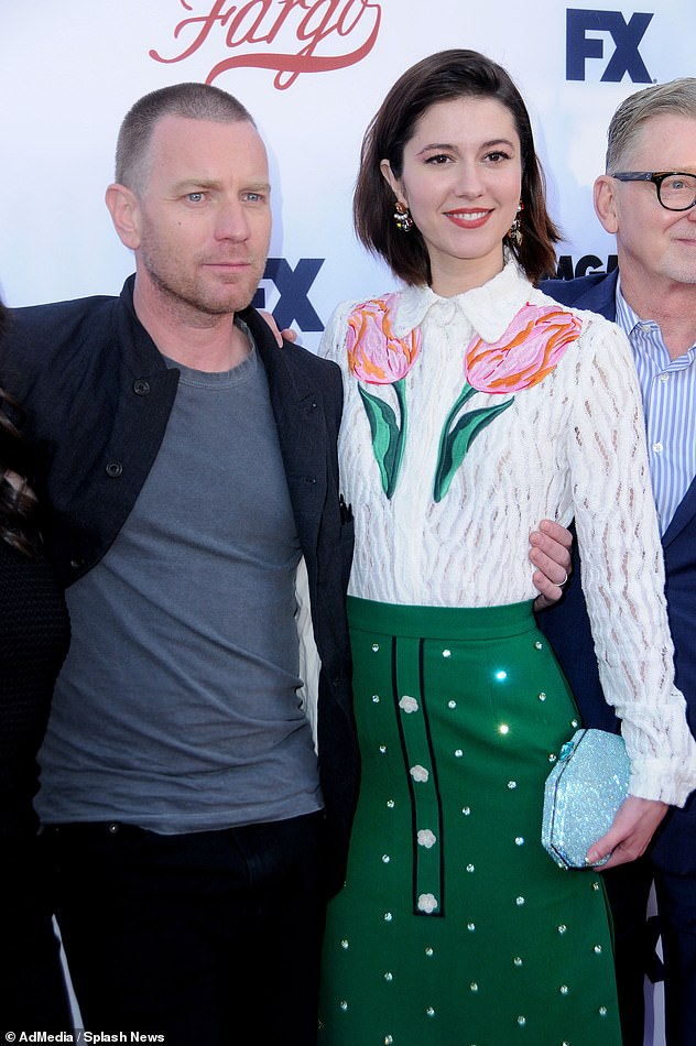 Together: Ewan and his Fargo co-star Mary Elizabeth Winstead were first spotted out in 2017 - while the actor was still married to Clara's mother Eve Mavrakis (pictured May 2017)