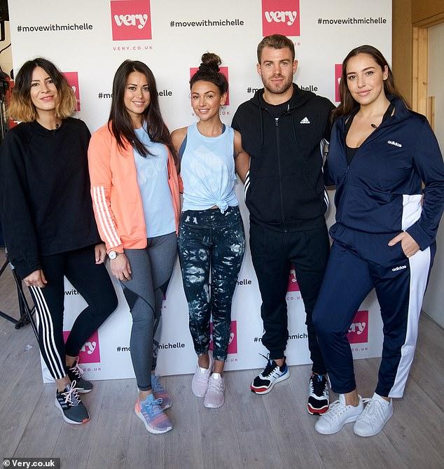In good company: She posed for snaps alongsideAnna Barnett, Olympic gold medallist Sam, Bradley Simmonds and Jada Sezer at the event