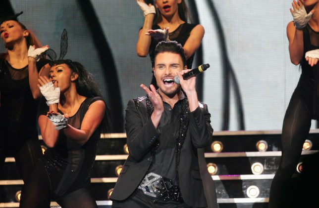 Rylan Clark-Neal on stage
