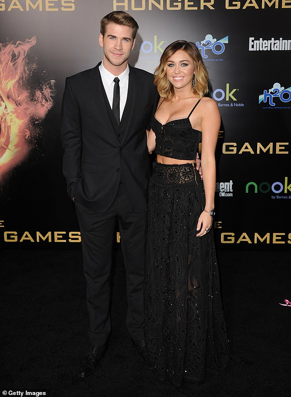 His big night:Shortly after Miley accompanied Liam to the premiere of his film The Hunger Games in March 2012, engagement rumors swirled