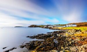 Ardbeg Distillery on the coastline just east of the village of Port Ellen on the island of Islay, Scotland.