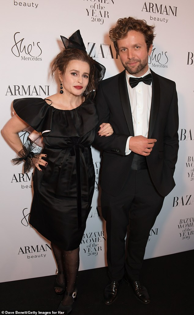 Cosy: Inside the awards show Helena was also joined by her suave boyfriend Rye Dag Holmboe, 32