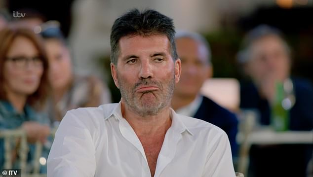 Plans: Simon and his partner, Lauren Silverman, 42, sent out cancellations just days before the birthday extravaganza, citing 'scheduling conflicts' as the reason (pictured on The X Factor this month)