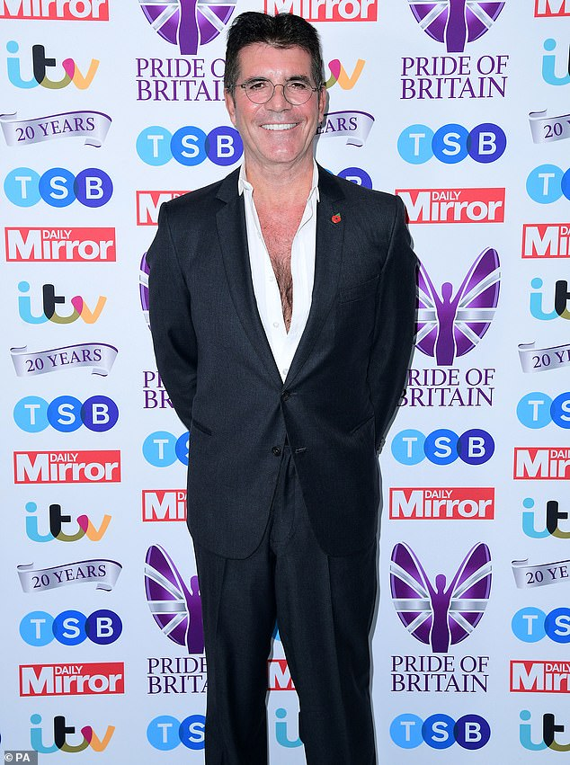 Appearance:Simon's cancellation comes after he made an appearance with partner Lauren at Monday's Pride of Britain Awards (pictured)