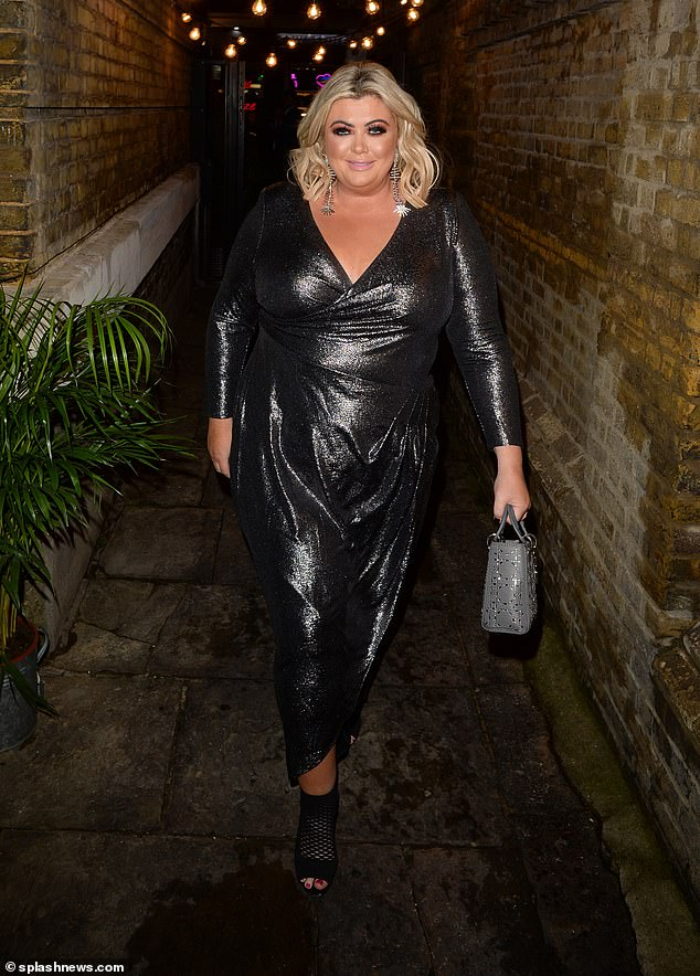 Weight loss: The TV star, pictured at the Deliveroo Awards on October 18, has already shed three stone and recently revealed she would like to lose another three by Christmas