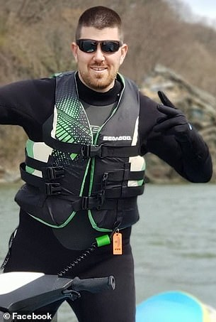 He is currently paralyzed but doctors say they expect he'll make a full recovery. Pictured: Perry on a jet ski, before the accidnet