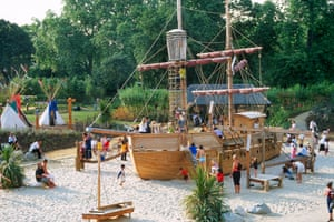 Fit for a princess … teepees and a pirate ship in Diana's memorial playground.