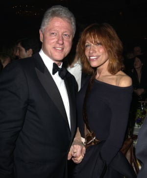 """Simon with Bill Clinton in 2003: """"He has 'the glint' and he can't help himself."""""""