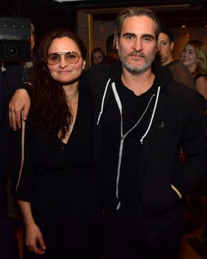 'Wonderful' … Rain and Joaquin Phoenix, who came to her recent record launch fresh from the Joker premiere.