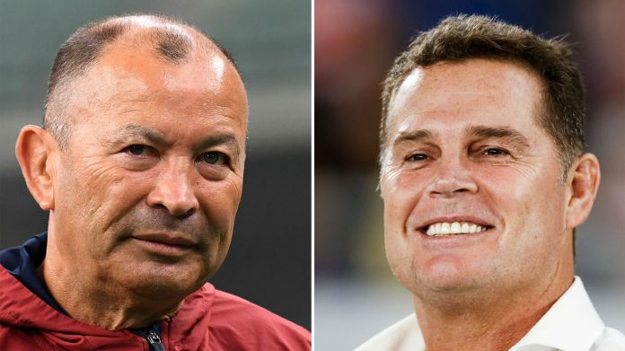 England head coach Eddie Jones and South Africa head coach Rassie Erasmus