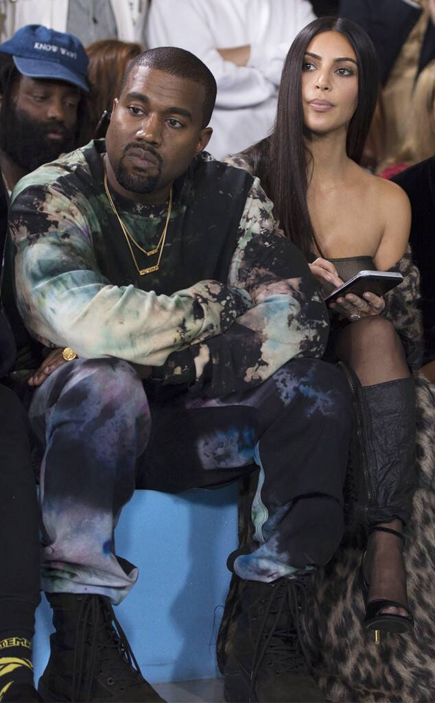 Kanye West, Kim Kardashian, Fashion Week Couples