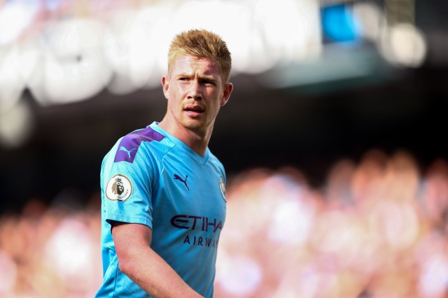 Kevin De Bruyne is a doubt for Man City's clash with Wolves
