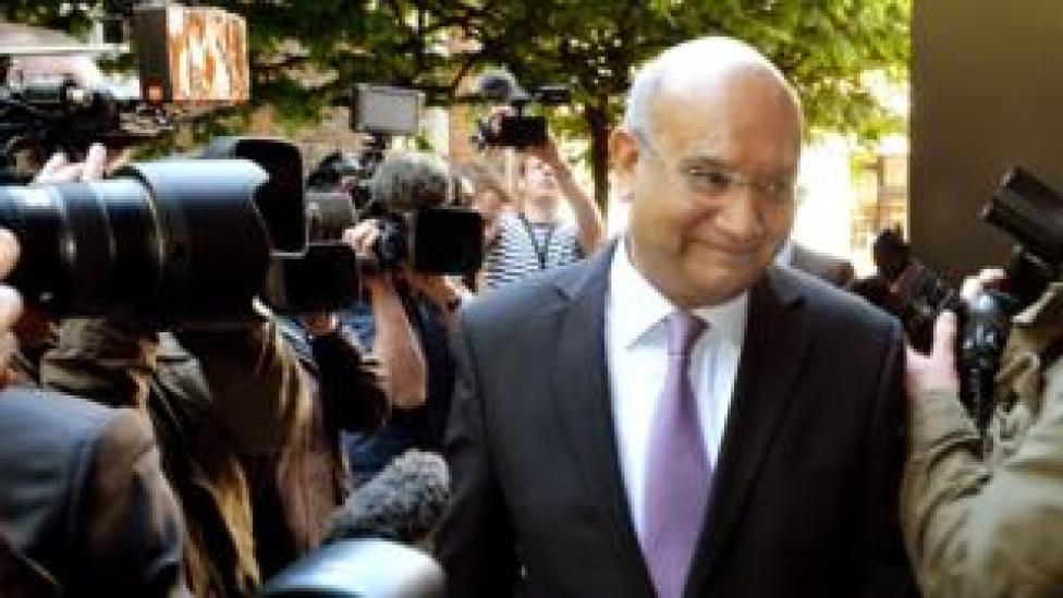 Keith Vaz being photographed and filmed by the press