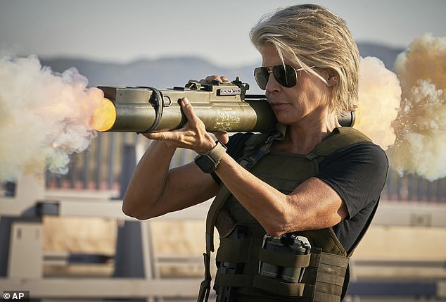 Back in action: Linda Hamilton told People she embarked on a year-long 'no carbs' diet and fitness regimen to prepare for her return as Sarah Connor in Terminator: Dark Fate