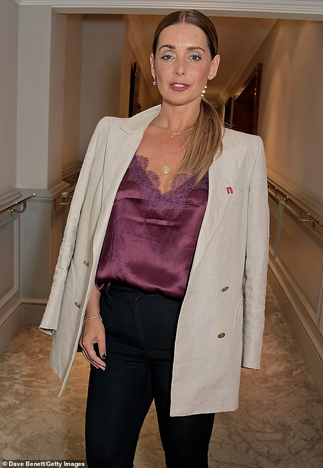 Nights out: Louise Redknapp reportedly enjoyed several nights out with former footballer John Hall over the spring period (pictured in July)