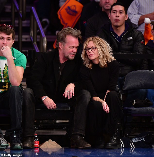 Throwback: John Mellencamp and Meg Ryan have reportedly ended their engagement, according to US Weekly; pictured December 25, 2017 in NYC at a New York Knicks vs Philadelphia 76ers game