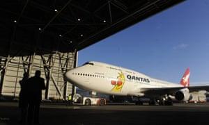 The Qantas airplane hangar in Sydney.