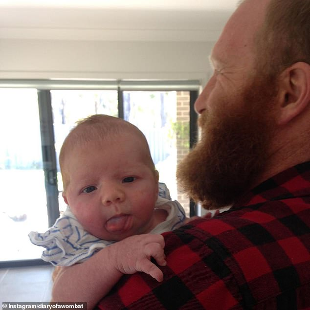 'My awesome wife gave birth to our little rascal': The Block's Wombat reveals he and Ruby Walton have welcomed a baby girl... and reveals the newborn's sweet name