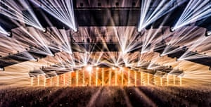 Reach for the lasers! The main Thunderdome arena.